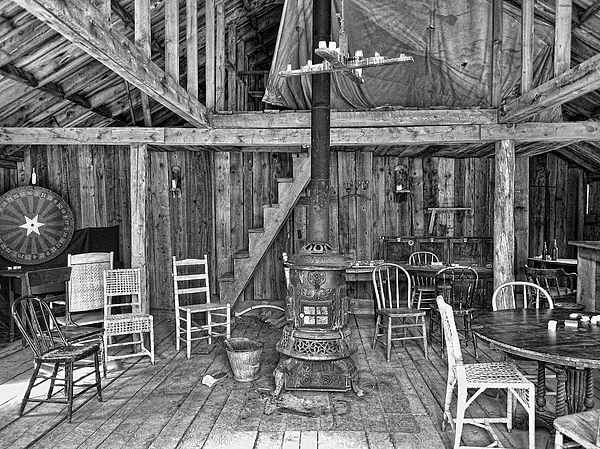 Saloon Photograph - Interior Criterion Hall Saloon - Montana Territory by Daniel Hagerman