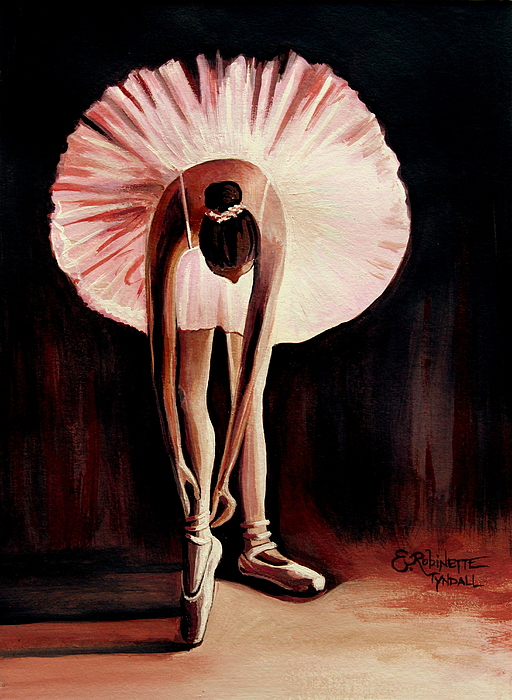 Ballerina Painting - Interlude by Elizabeth Robinette Tyndall