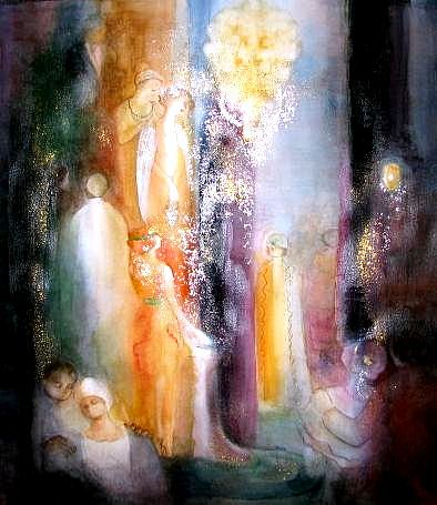 Historical Painting - Intermission by Tokiko Anderson