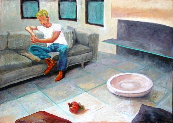 Plate Painting - Interno 1 by Sergio Guerrini