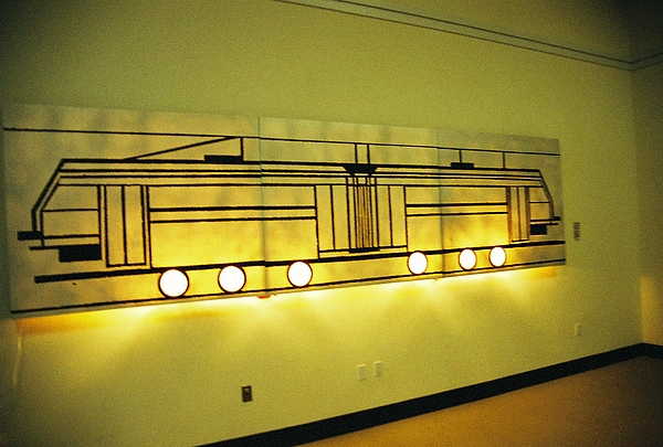 Transit Mixed Media - Interurban Rail by Michael Copeland Sydnor