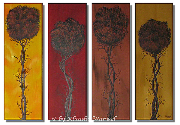 Landscape Painting - Interwoven by Klaudia Warwel