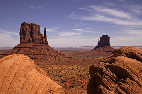 Clouds Photograph - Into Monument Valley by Andrew Soundarajan