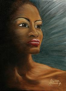 Woman Painting - Into The Light by Elizabeth Hannah
