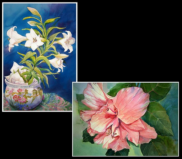 Lilies Painting - Into The Light by Sue Kemp