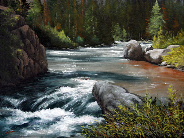 Landscape Painting - Into The Narrows 070820-1612 by Kenneth Shanika