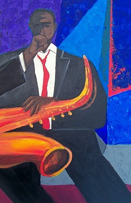 Jazz Painting - Intransition 1 by Peter Sparks