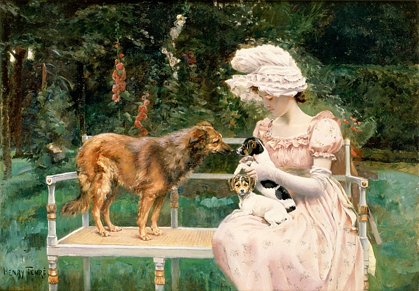Introductions (oil On Canvas) By Charles Henry Tenre (1864-1926) Painting - Introductions by Charles Henry Tenre