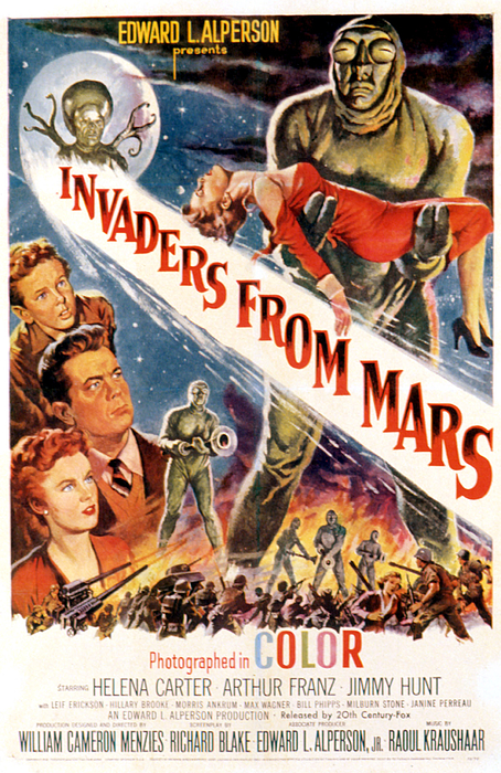 1953 Movies Photograph - Invaders From Mars, Jimmy Hunt, Arthur by Everett