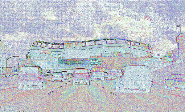 Abstract Photograph - Invesco Field by Lenore Senior