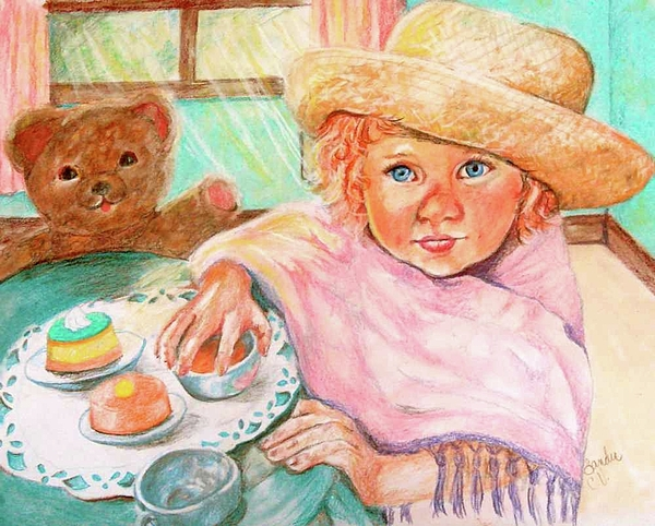 Child Pastel - Invitation Only Tea Party by Sandra Valentini