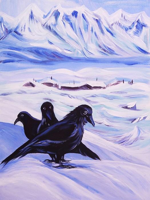Acrylic Painting - Iqaluit by Anna  Duyunova