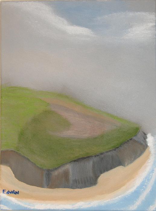 Ireland Painting - Ireland Cliffs by Edwin Long