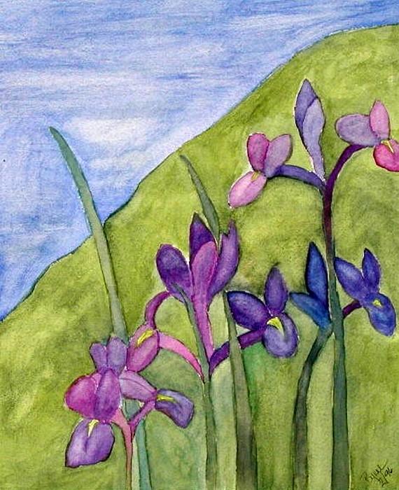 Flowers Painting - Iris Meadow by Margie  Byrne