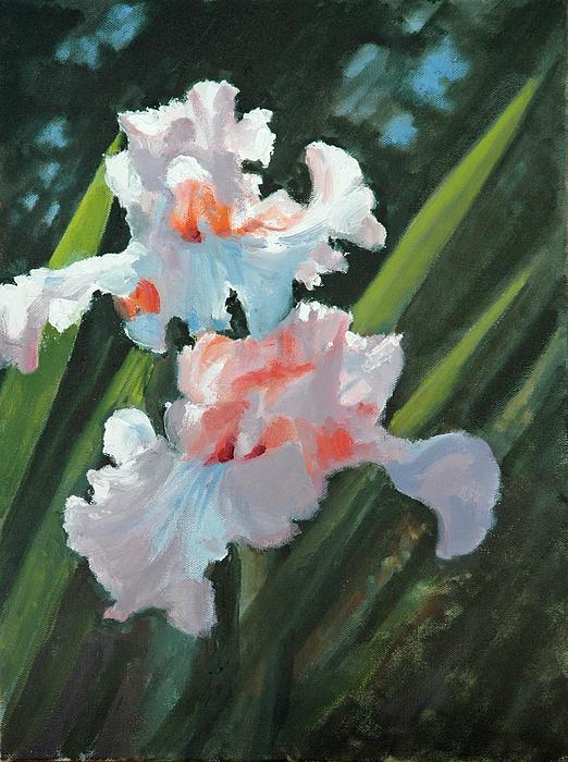 Irises Painting - Iris Pour Une Belle Femme by Glenn Secrest