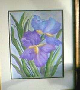 Irises Painting by Doris Burnham