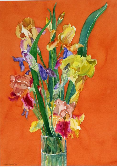 Flowers Painting - Irises by Martha Zausmer paul
