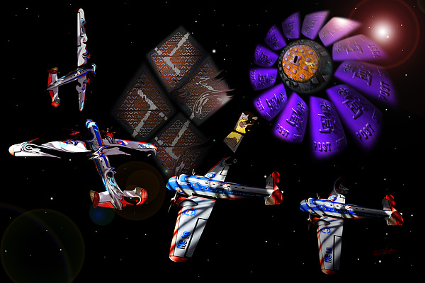 Outer Space Digital Art - Iron In The Sky by Charles Stuart