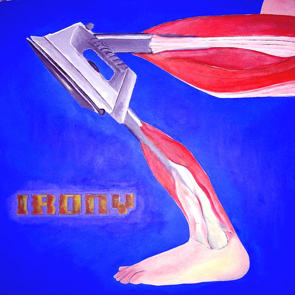 Irony Painting - Iron-knee by Darren Stein