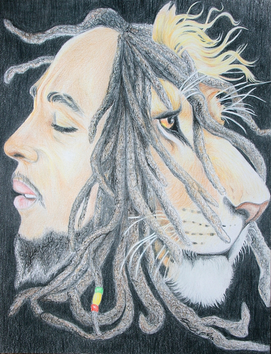 Iron Lion Zion Drawing By Joanna Aud
