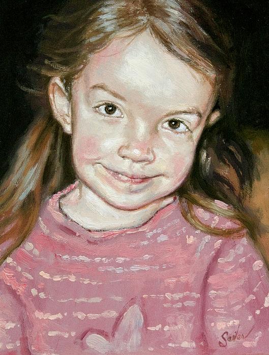 Portrait Painting - Isabeau Smiles by Larry Seiler