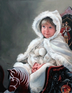 Portrait Painting - Isabella Waiting For Snow by Linda Champanier