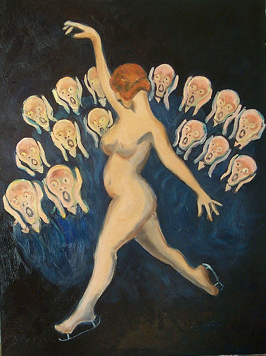 Munch Painting - Isadora On Ice by Albie Davis