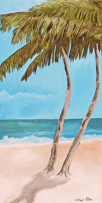 Palm Tree Painting - Island Dreams 3 by Joseph Palotas