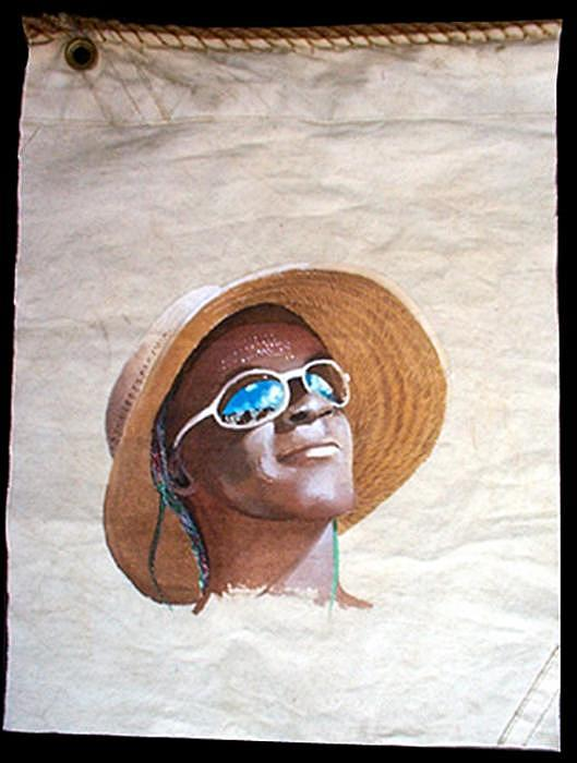 Portrait Painting - Island Lady by Jim Clary