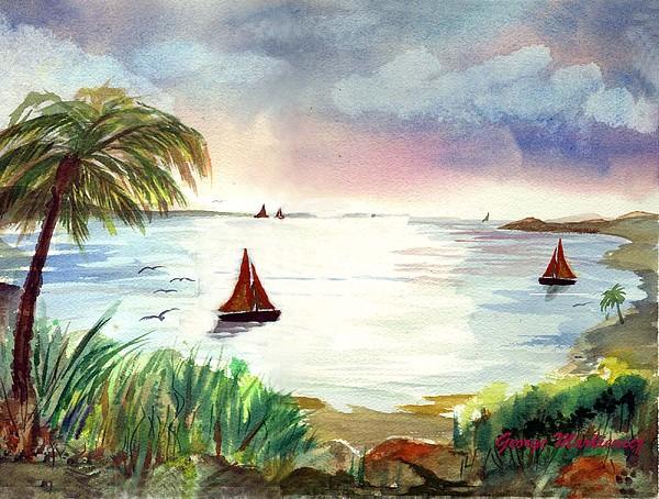 Island Of Dreams Print by George Markiewicz