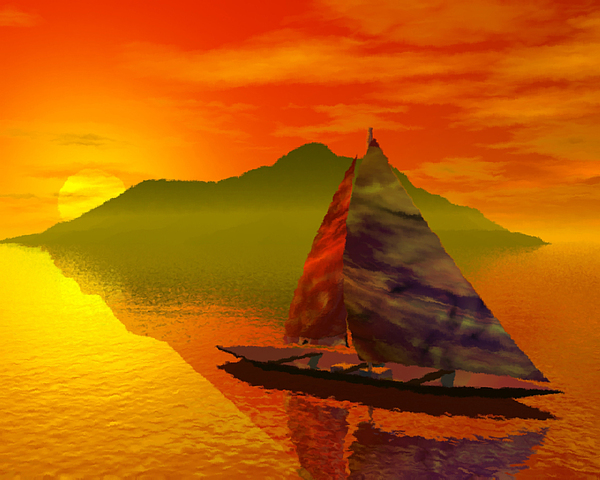 Boat Digital Art - Islandside by Adam Wells