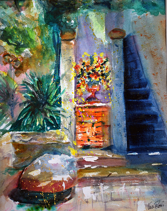 Paintings Painting - Isola Maggiore Doorway by Neva Rossi