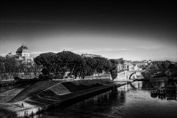 Rome Photograph - Isola Tiberina by Brian Thomson
