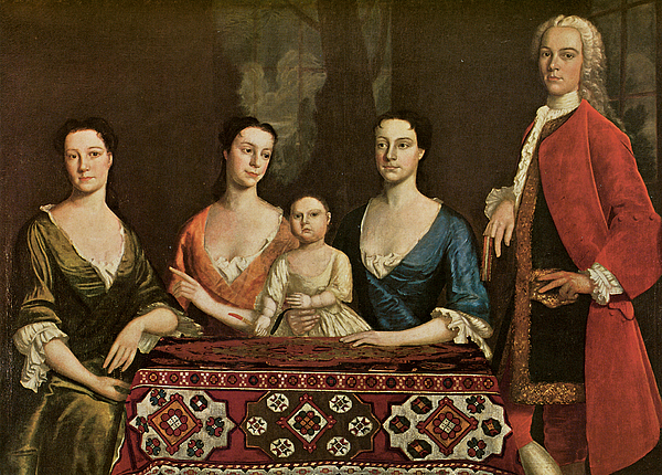 Family Portrait Painting - Issac Royall And His Family by Robert Feke
