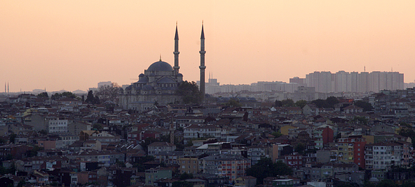 Horizontal Photograph - Istanbul Cityscape At Sunset by Terje Langeland