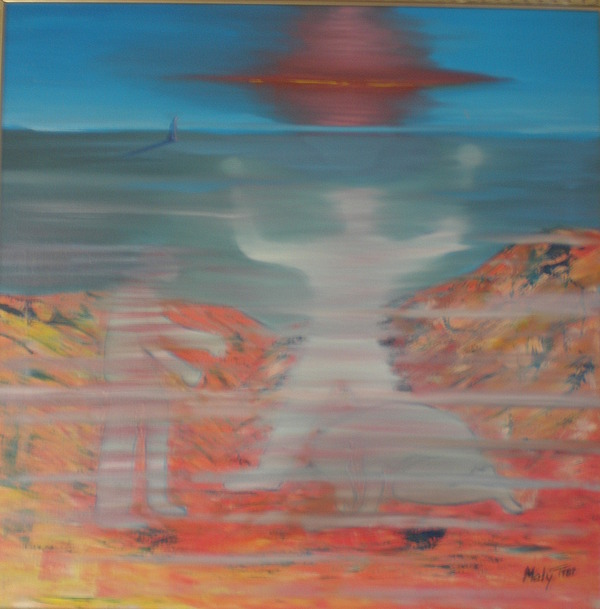 Painting Painting - It Is Comming by Jan Paulus-maly
