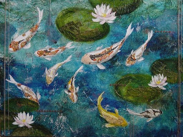 Koi Painting - It by Rowena Finn