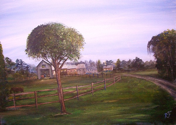 It The Ranch  Painting by Richard Finnell