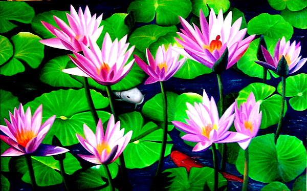 Flower Painting - It Was Just Like A Lotus Flower Unfolding  by Yuki Othsuka