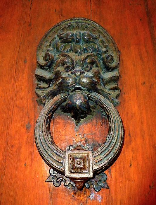 Door Knocker Photograph - Italian Door Knocker by Jen White