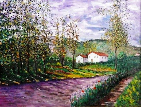 Landscape Painting - Italian Landscape by Sandro Sabatini