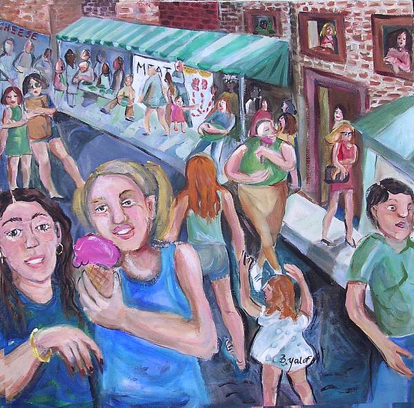 Meat Painting - Italian Market by Barbara Yalof