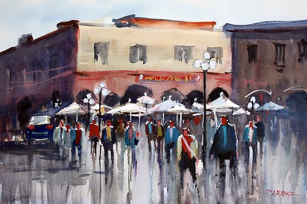 Rome Painting - Italian Marketplace by Ryan Radke