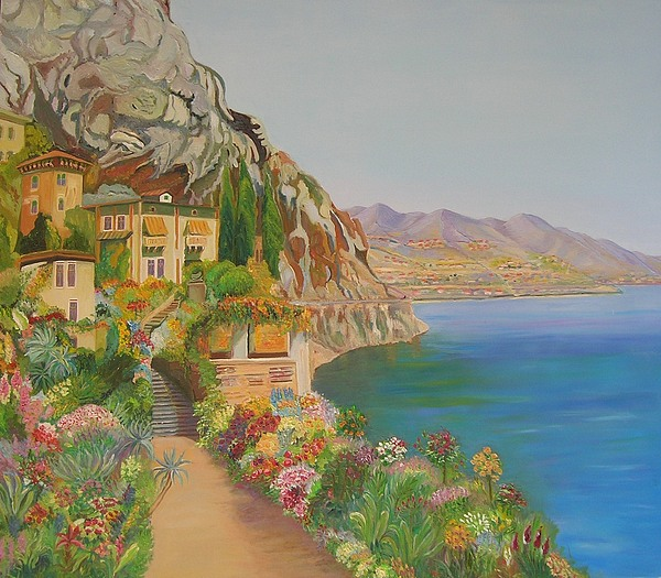 Italy Painting by Ewald Smykomsky at Beyond Gallery Cafe of Kathlin Austin