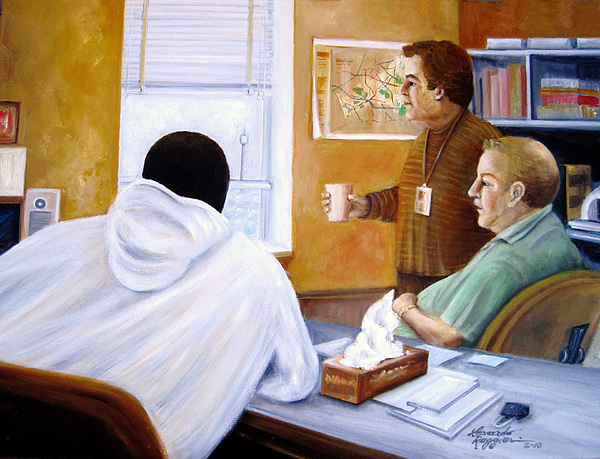 People Painting - Its A Tough Job At The County by Leonardo Ruggieri