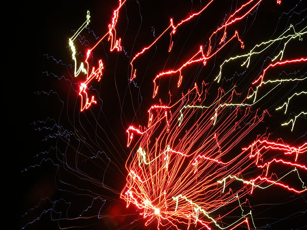 Fireworks Photograph - Its Electric by James and Vickie Rankin