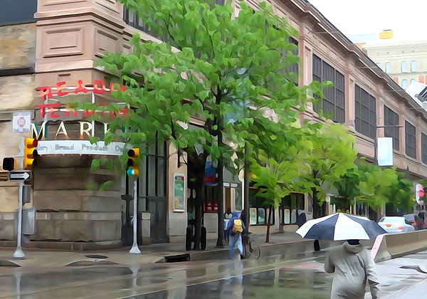 Philadelphia Photograph - Its Raining In Philly by Michael Wilcox
