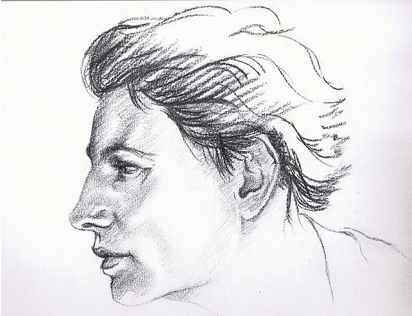 Portrait Drawing - Ix-chel by Victor Amor