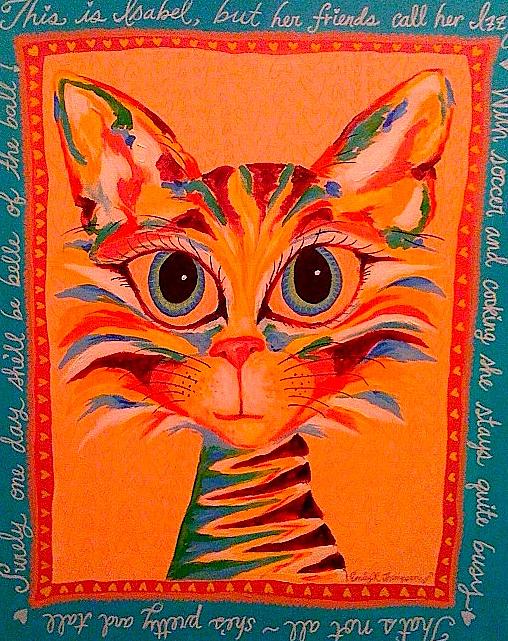 Izzy Kitty Painting by Emily Reynolds Thompson