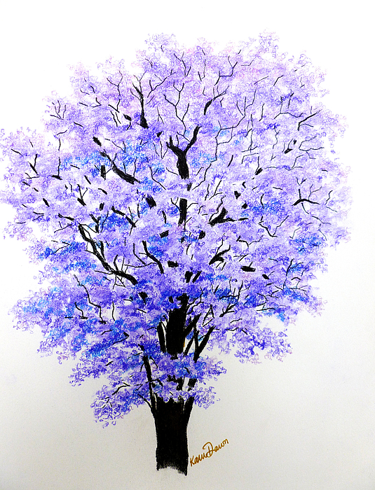 Jacaranda Tree Pastel - Jacaranda Time by Karin  Dawn Kelshall- Best